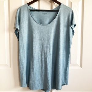 Eileen Fisher 100% Linen Box Top Size Large Petite